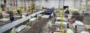 mattress manufacturing area for American Bedding Manufacturing