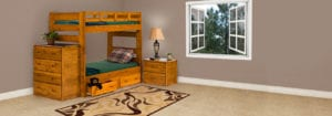Wood Bunk Beds from the Hampton Series