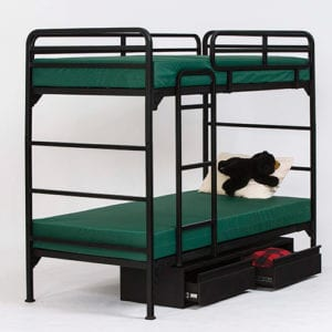 Camp Bunk Bed with Ladder and Guardrail