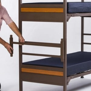 Military Bunk Bed with Connector Bracket