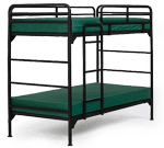 4500 Bunk Bed with Green Mattresses
