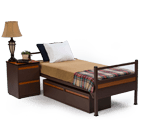 Individual Metal Bed and Furniture