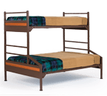 Twin Over Full Platinum Bunk Beds