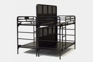 4500 partition bed - two bunk beds side by side with divider