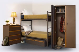 model 4500 collection - drawer, chest, underbed storage and locker with bunk bed