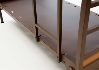 close up photo of the Platinum Solid Panel Bunk Bed